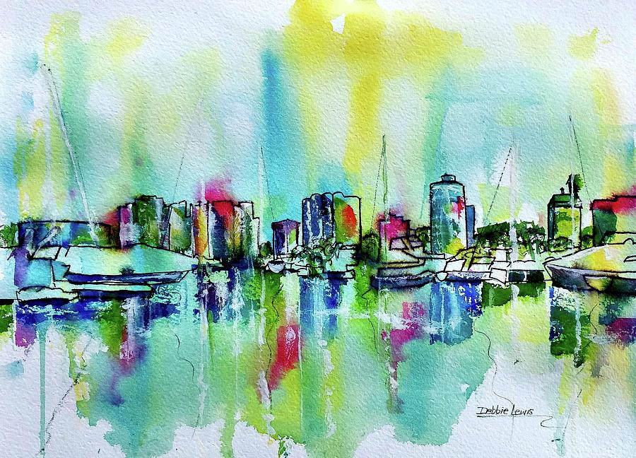 Abstract View of Downtown Long Beach by Debbie Lewis