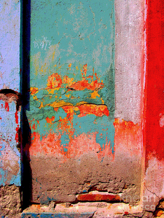 Michael Fitzpatrick Photograph - Abstract Wall By Michael Fitzpatrick by Mexicolors Art Photography