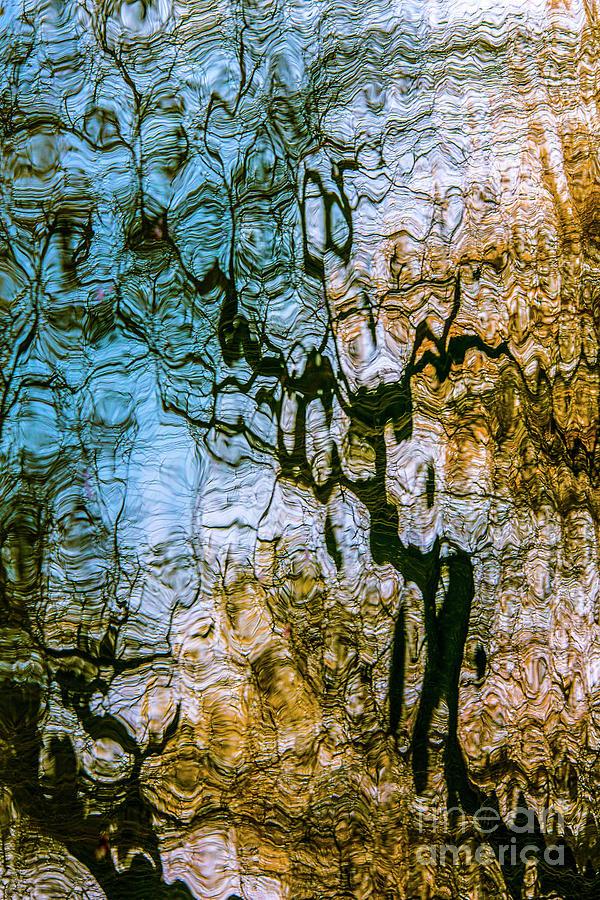 Abstract Water Reflection by Daliana Pacuraru