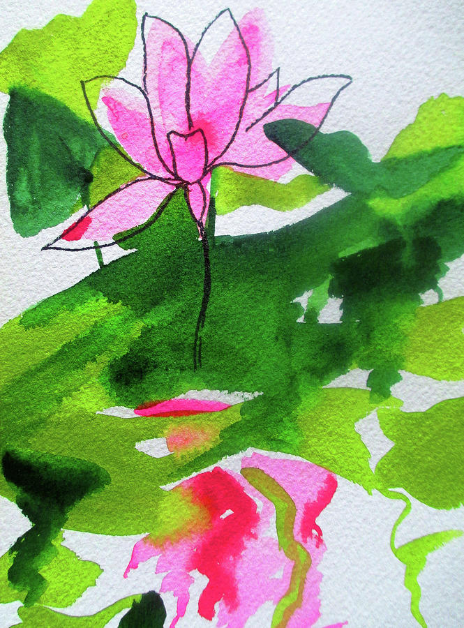 Waterlily Painting - Abstract Waterlily by Sacha Grossel