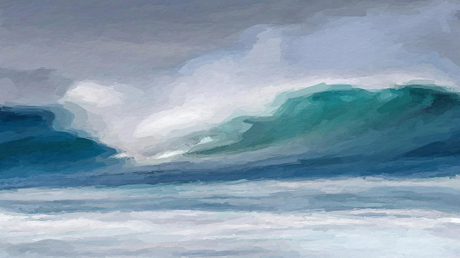 abstract wave mixed media by anthony fishburne
