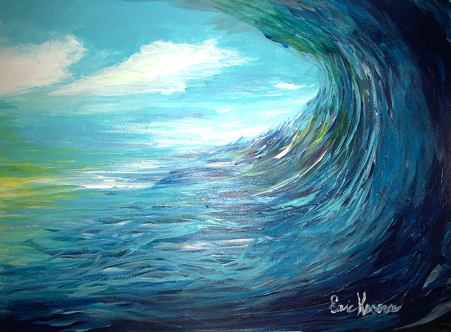 abstract wave painting by eric kooser