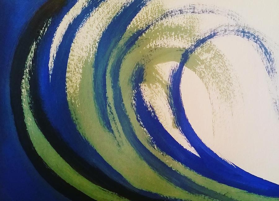 Abstract Painting - Abstract Waves by Vale Anoai