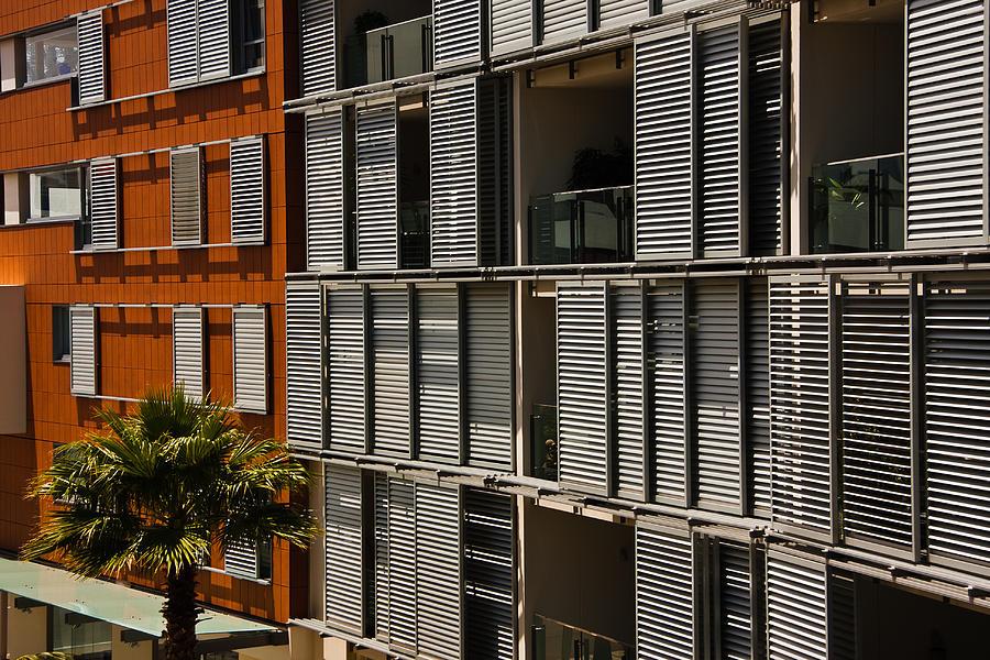 Pattern Photograph - Abstract Windows Pattern by John Buxton
