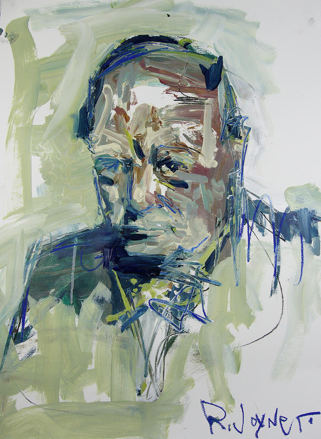 Portrait painting abstract winston churchill portrait by robert joyner