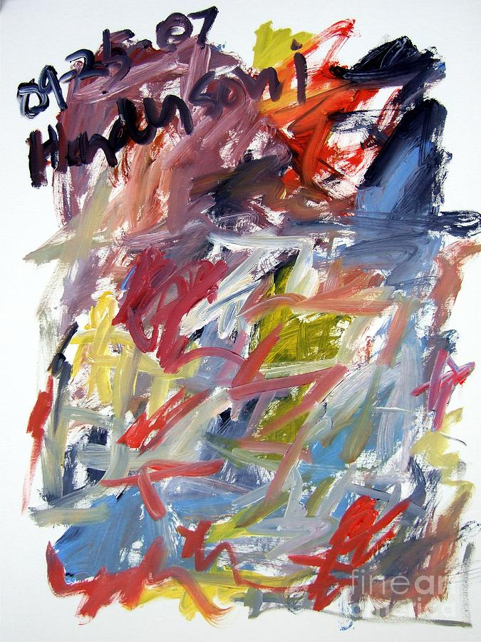 Abstract Painting - Abstract With Black Date by Michael Henderson