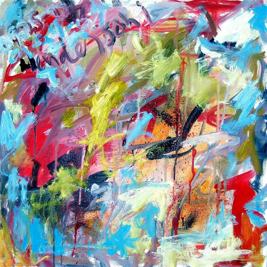 Abstract Painting - Abstract with Drips and Splashes by Michael Henderson