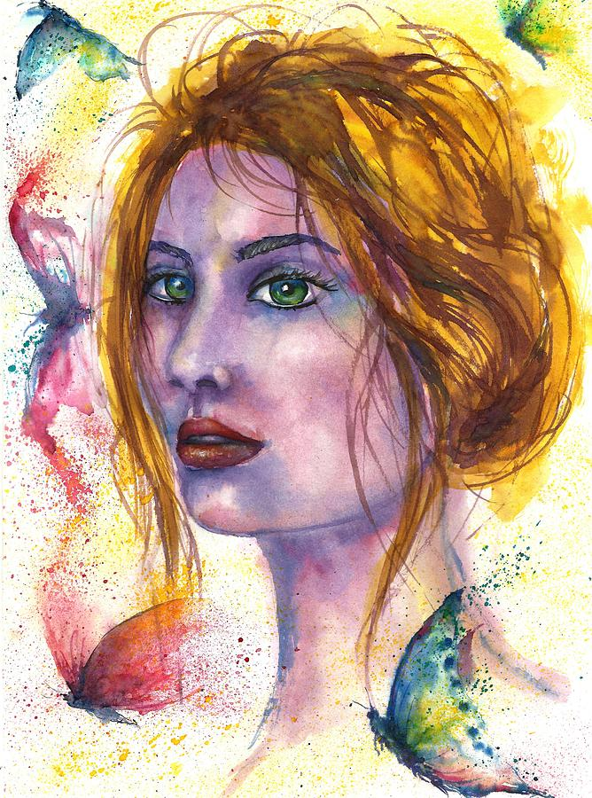 Abstract Face Painting - Abstract women face by Natalja Picugina