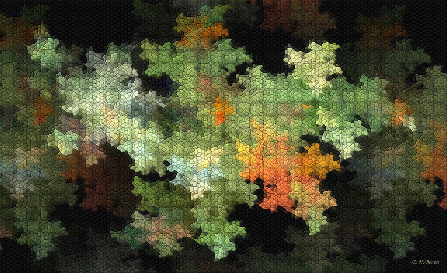 Digital Mixed Media - Abstract World by Deborah Benoit