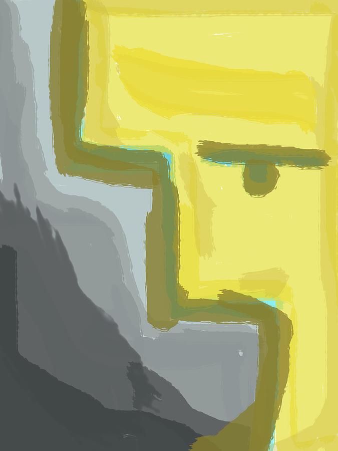 Abstract Yellow Digital Art