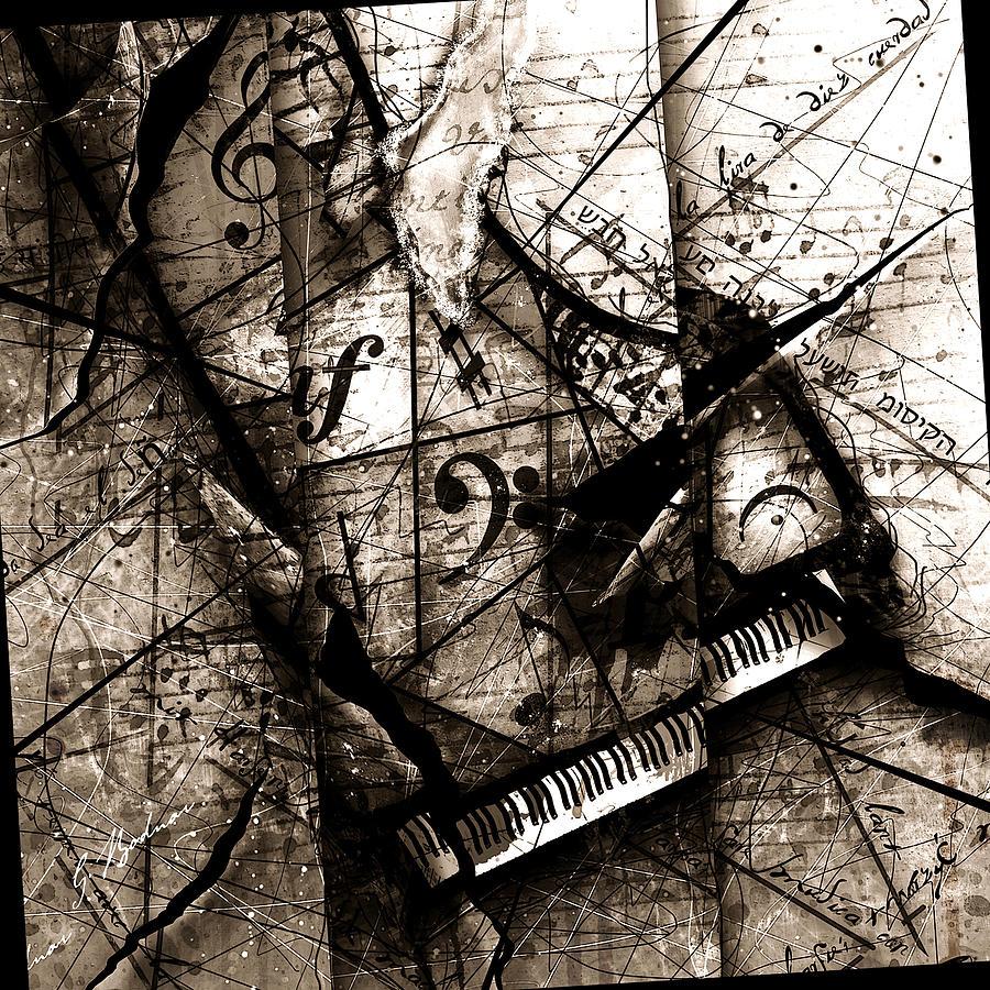 Piano Digital Art - Abstracta 27 The Grand Illusion  by Gary Bodnar
