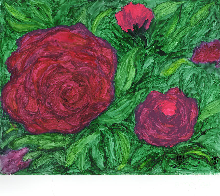 Abstracted Roses by Phyllis Brady