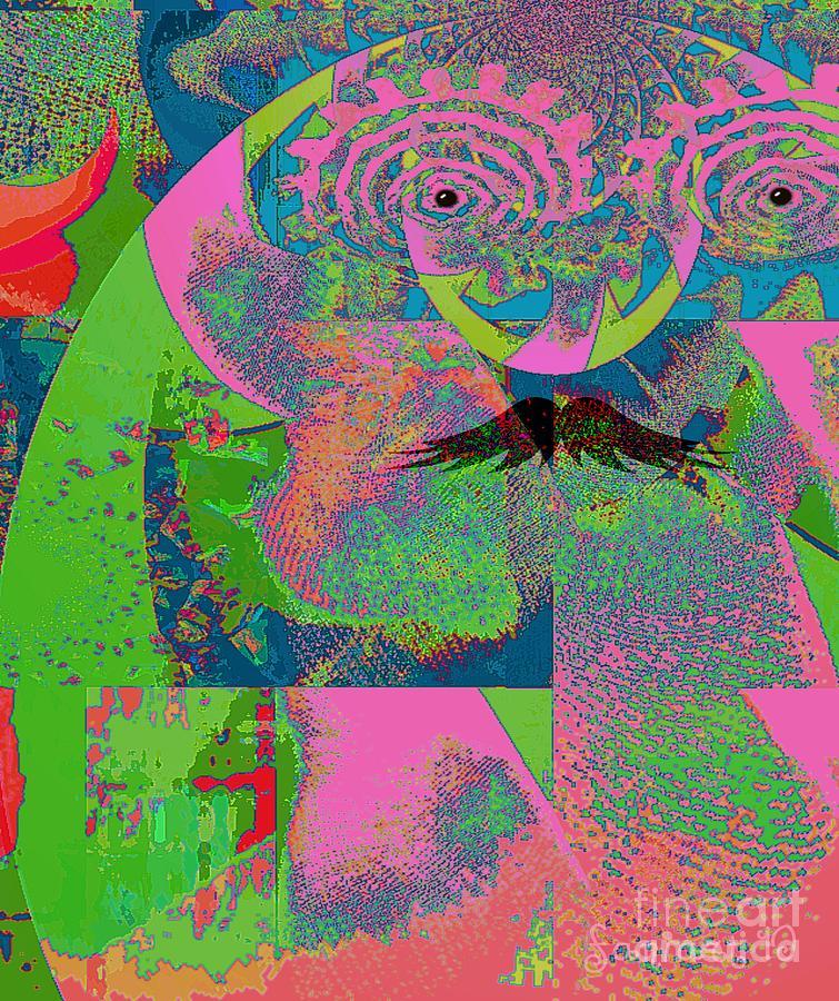 Fania Simon Mixed Media - Abstraction Of A New World by Fania Simon