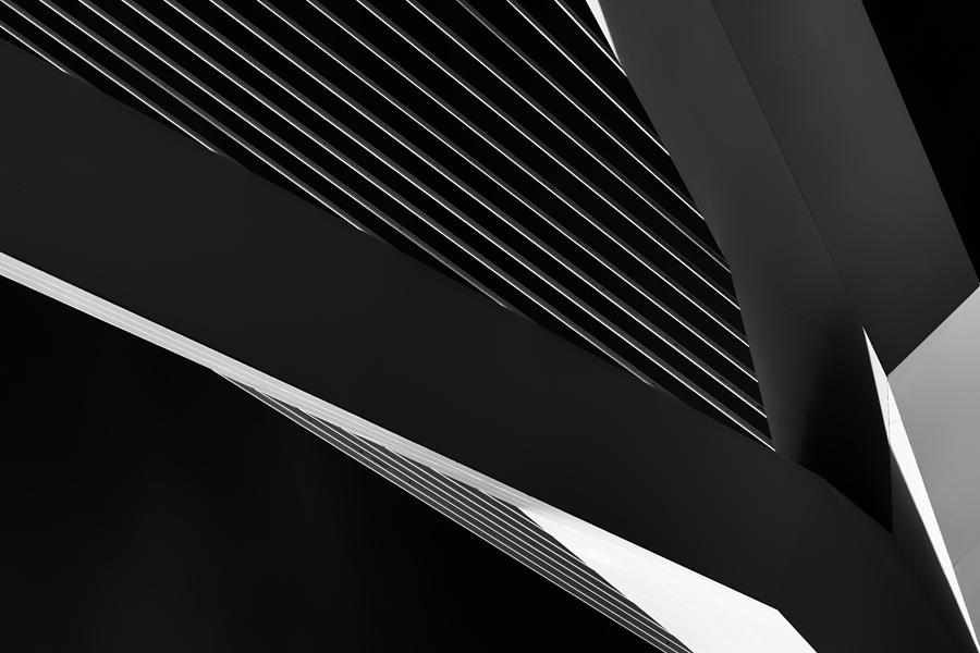 Architecture Photograph - Abstraction Of A Swan by Jeroen Van De Wiel