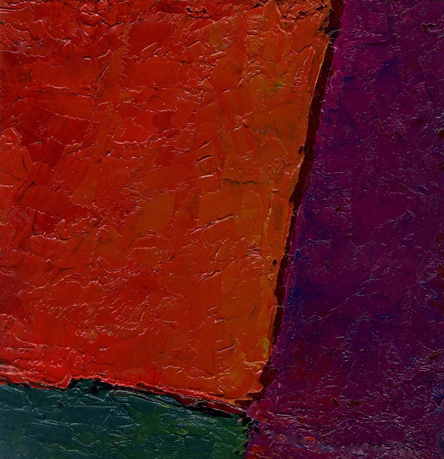 Abstraction Xv Orange Crush Painting by Chris  Riley