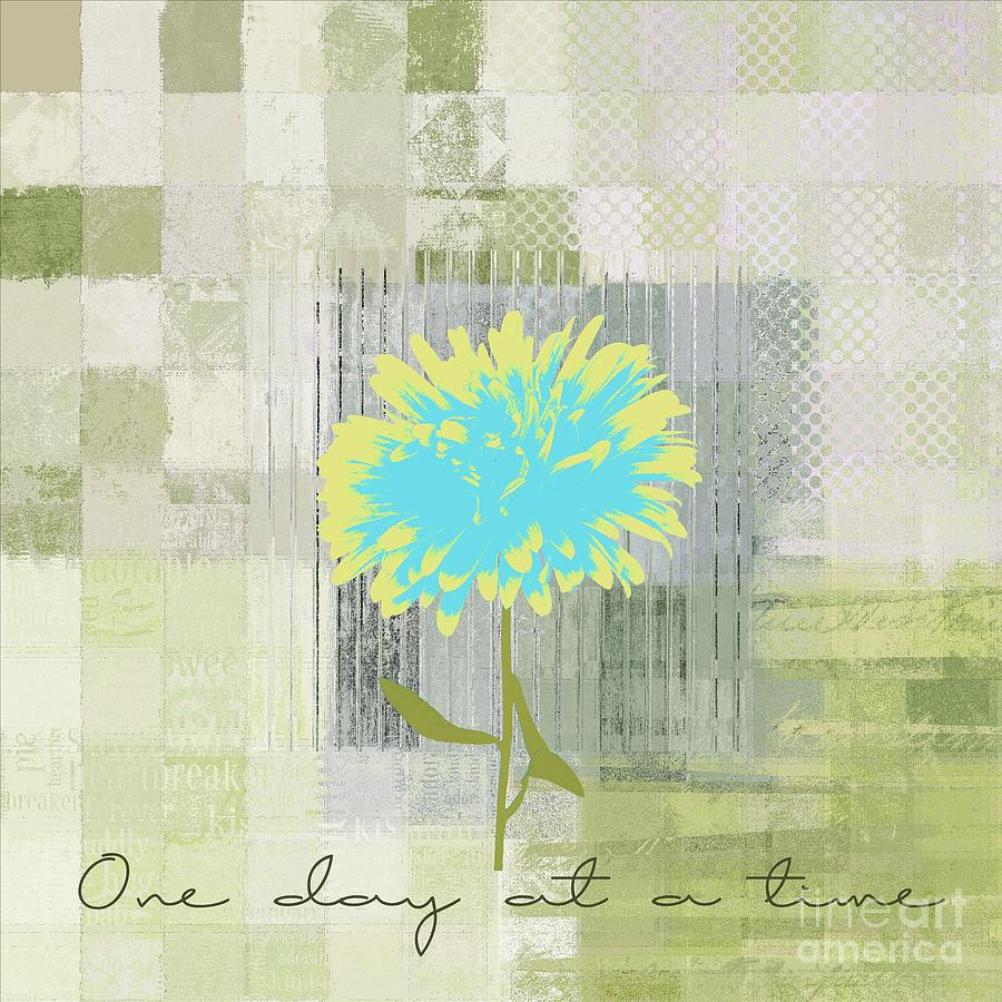 One Day At A Time Digital Art - Abstractionnel - 29grfl3c-gr3 by Variance Collections