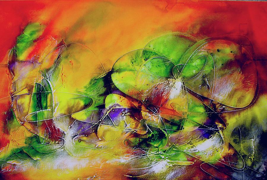 Arte Painting - Abstrato Zzzp by Fernando Antonio