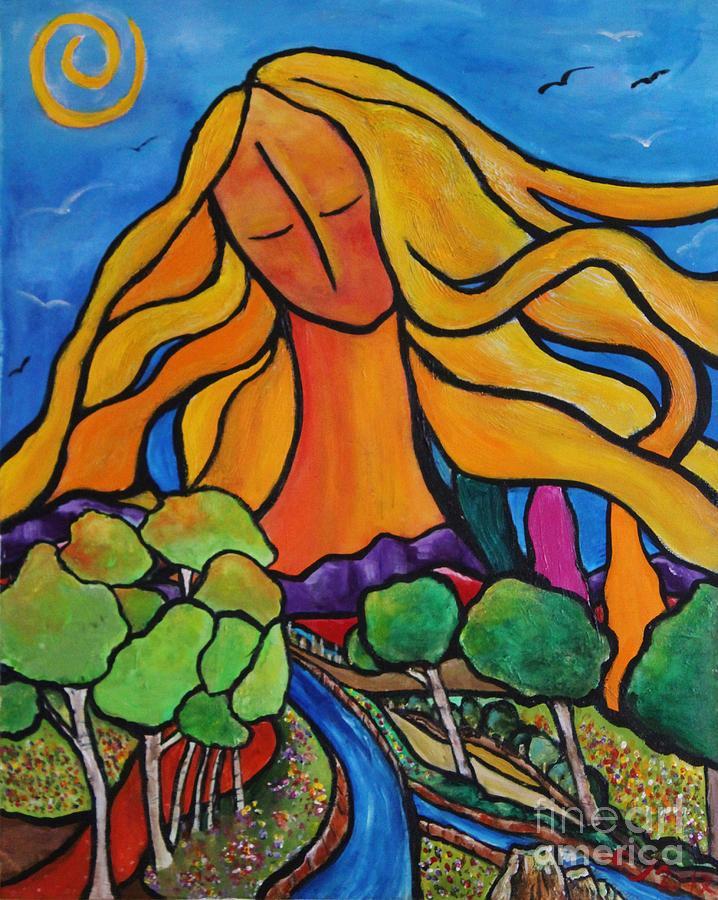 Landscape Painting - Abundance by Chaline Ouellet