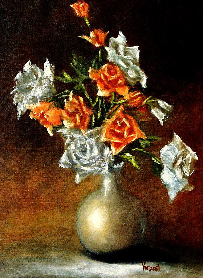 Roses Painting - Abundance Of Roses by Monica Vanzant