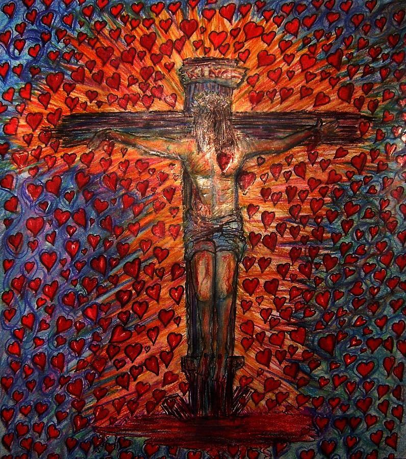 God Drawing - Abundant Love by Richard  Hubal