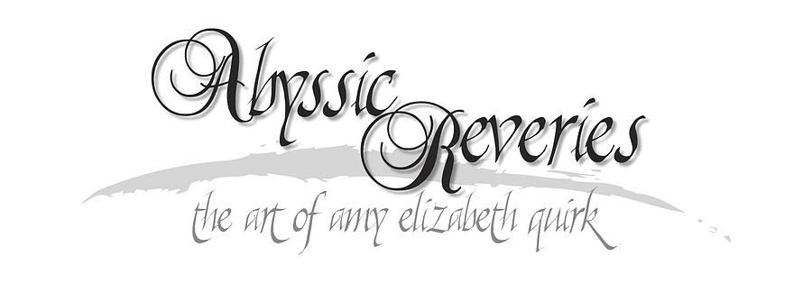 Graphite Digital Art - Abyssic Reveries LOGO by Amy Elizabeth Quirk