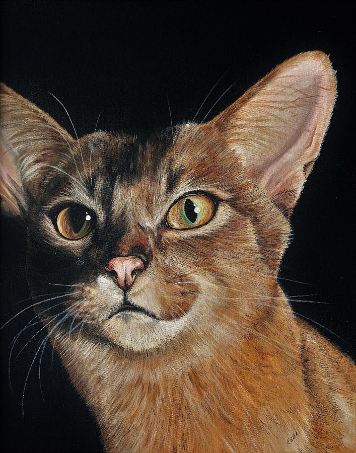 Cats Painting - Abyssinian by Katie McConnachie