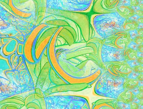 Meditation Digital Art - Ac-07-08 by Lao Dan