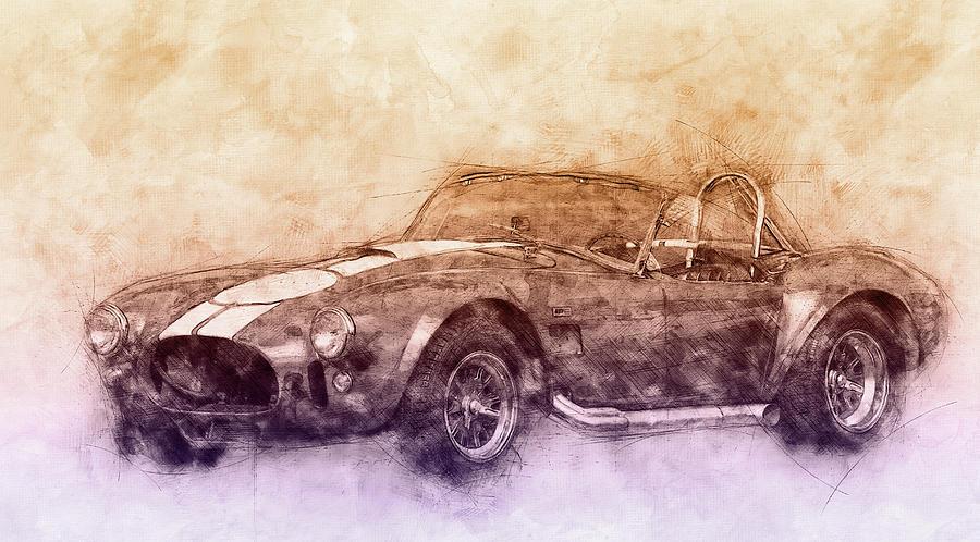 Ac Cobra - Shelby Cobra 2 - 1962s - Automotive Art - Car Posters Mixed Media
