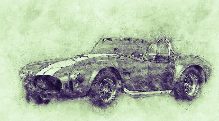 Ac Cobra - Shelby Cobra 3 - 1962s - Automotive Art - Car Posters Mixed Media