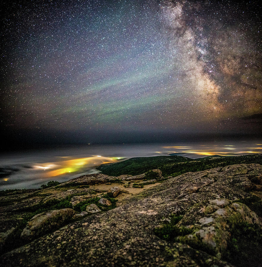 Acadia Stars and Fog by Brent L Ander