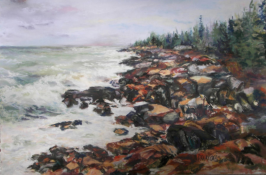 Acadia National Park Pastel - Acadian Afternoon by Alicia Drakiotes