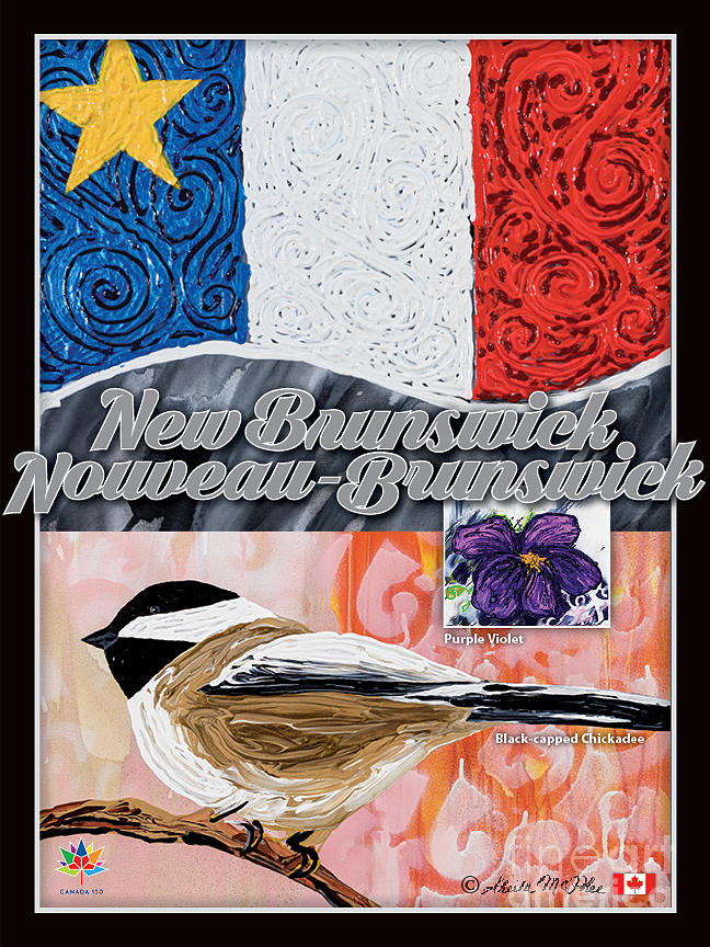 Acadian Flag of New Brunswick by Sheila McPhee