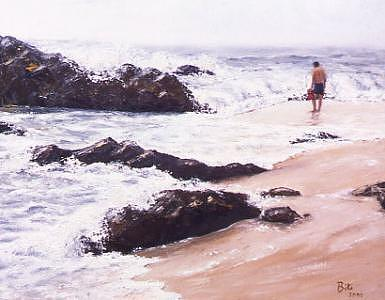 Mexico Painting - Acapulco Surf by Biki Chaplain