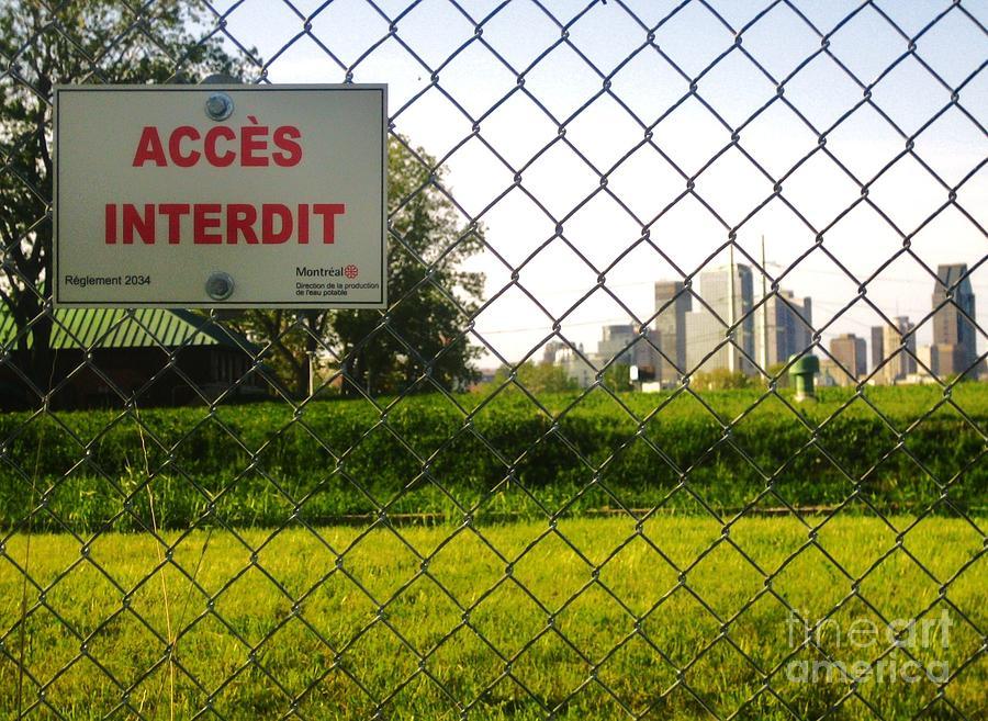 Landscape Photograph - Acces Interdit by Reb Frost