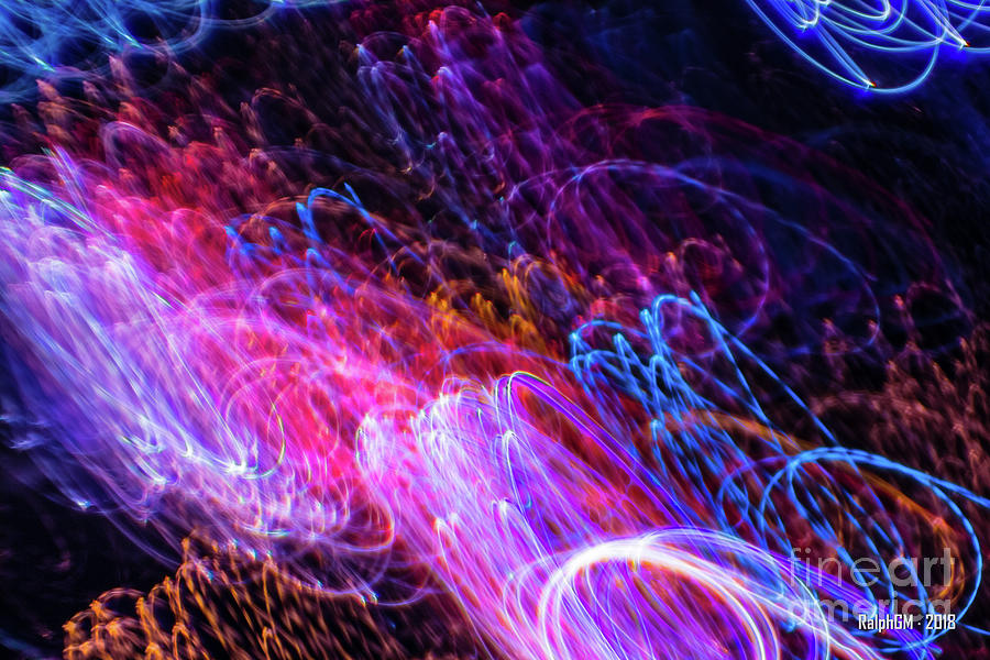 Purple Digital Art - Accidental Light Spirits #4 by Ralph GM