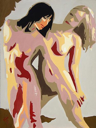 Nude Painting - Accion Y Resistencia by Hector Olvera