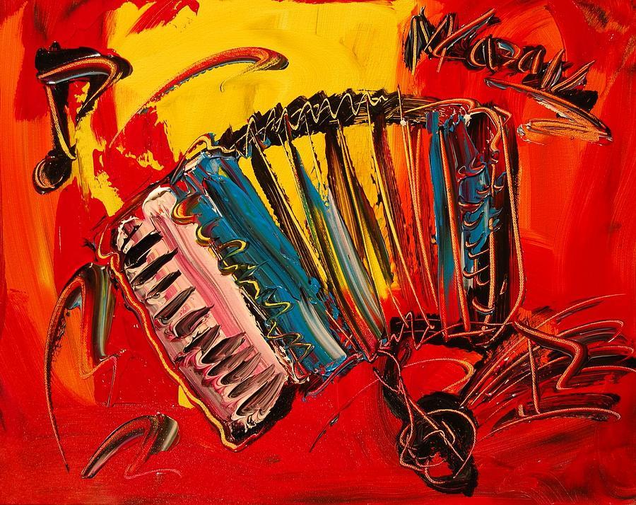 Canvas Prints Painting - Accordeon by Mark Kazav