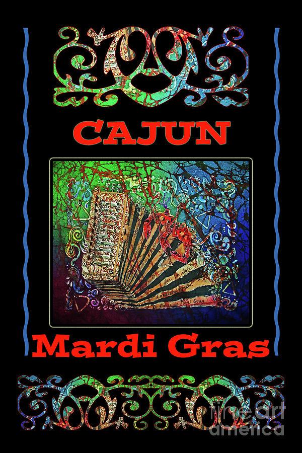 Cajun Mixed Media - Accordian Cajun Mardi Gras 2 by Sue Duda
