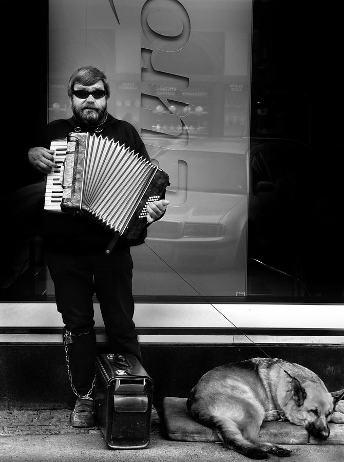 Street Musician Photograph - Accordian Player by Todd Fox