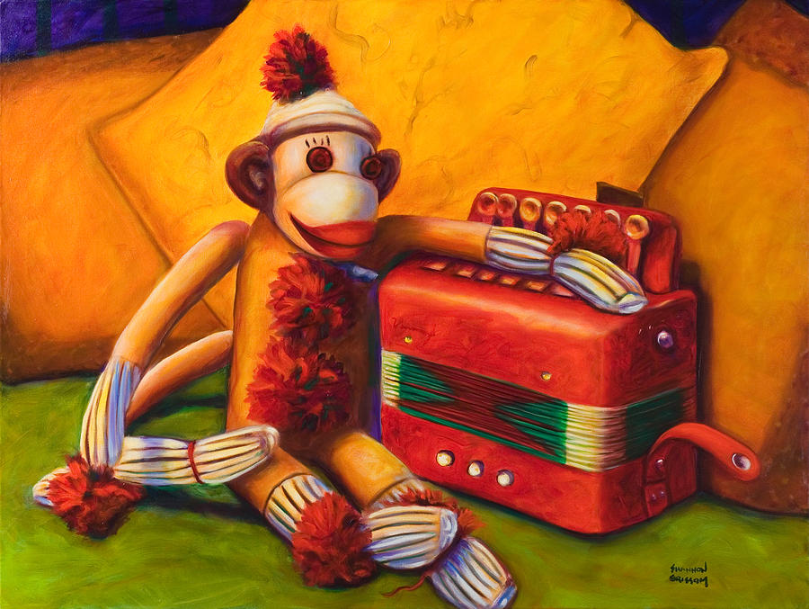 Children Painting - Accordion by Shannon Grissom