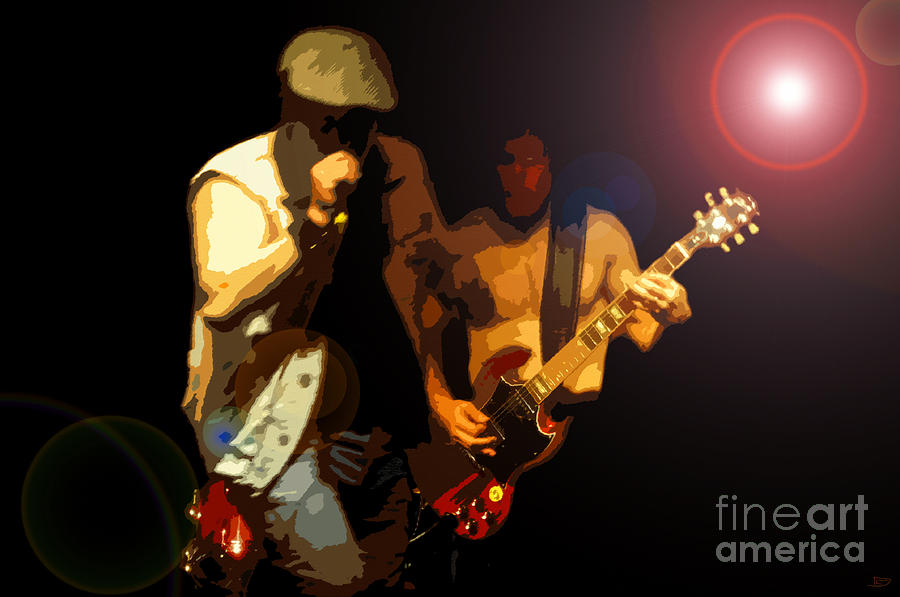 Acdc Painting - Acdc by David Lee Thompson