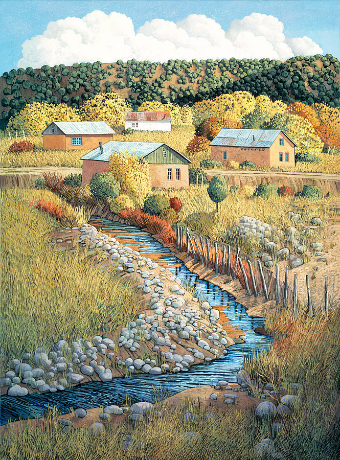 Southwestern Painting - Acequia Del Llano by Donna Clair