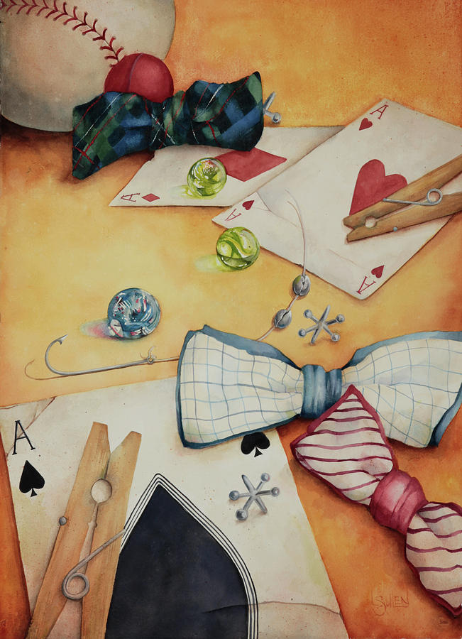 Aces Painting - Aces And Jacks by Lorraine Ulen