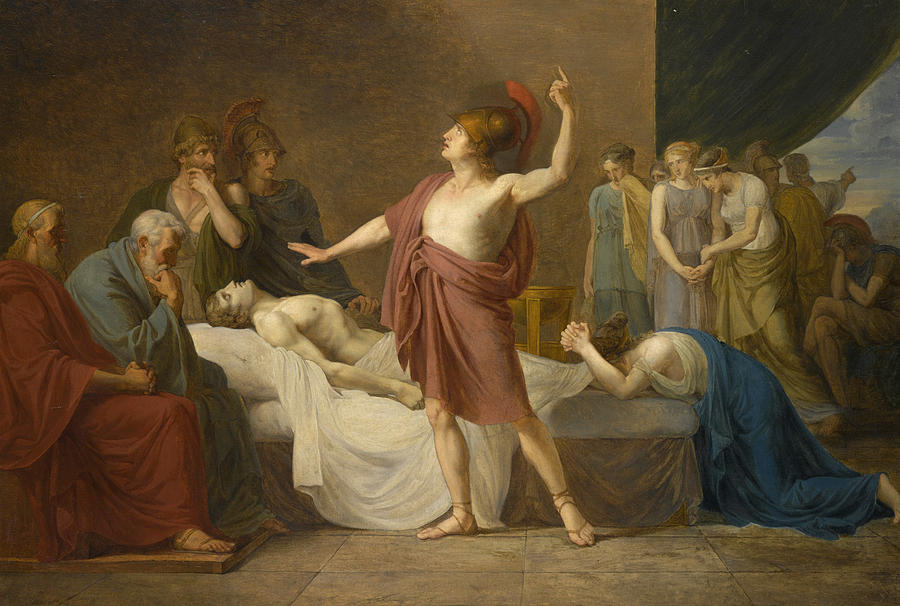 Achilles Lamenting The Death Of Patroclus Painting by ...