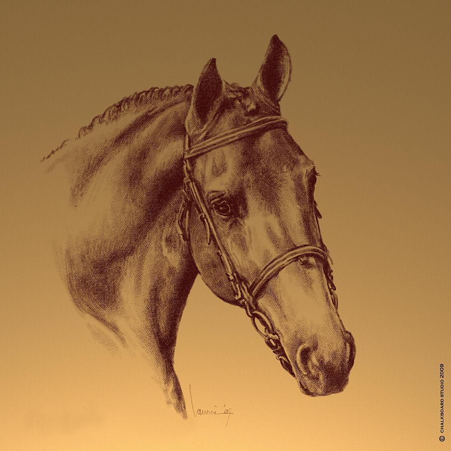 Horse Digital Art - Achilles by Laurie Musser
