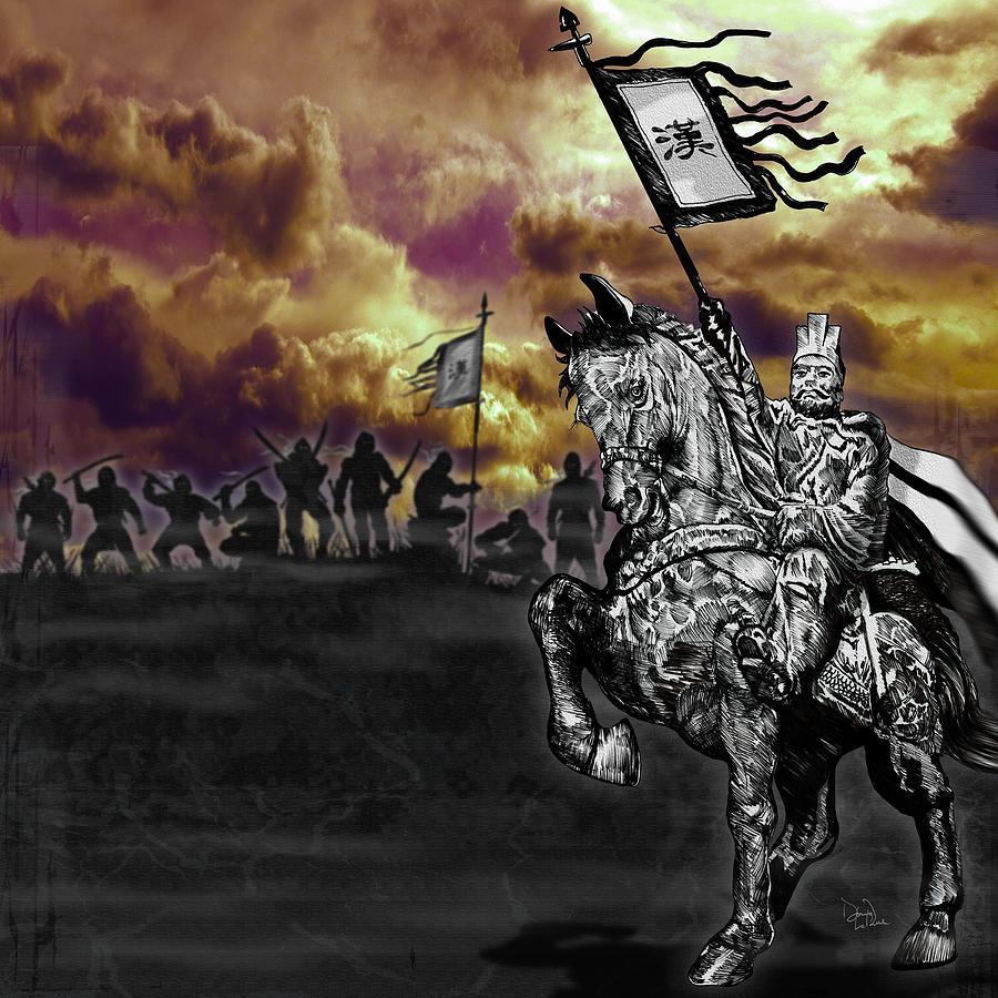 China Digital Art - Achiri Warriors by Doug LaRue