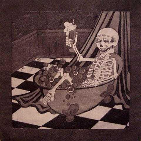 Skeleton Print - Acid Bath by Kimberly Lavon
