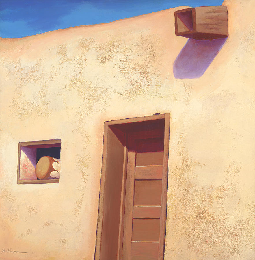 Pueblo Painting - Acoma by Jo Thompson
