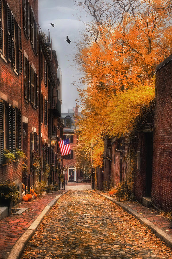 Boston Photograph - Acorn St. by Joann Vitali