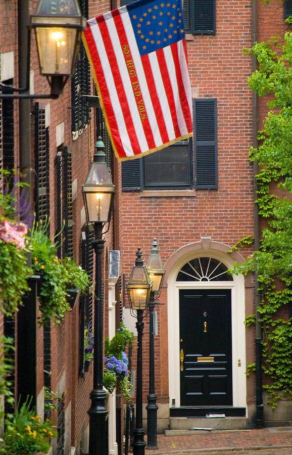 Boston Photograph - Acorn Street by Caroline Stella